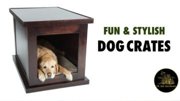 Fun and stylish dog crates.